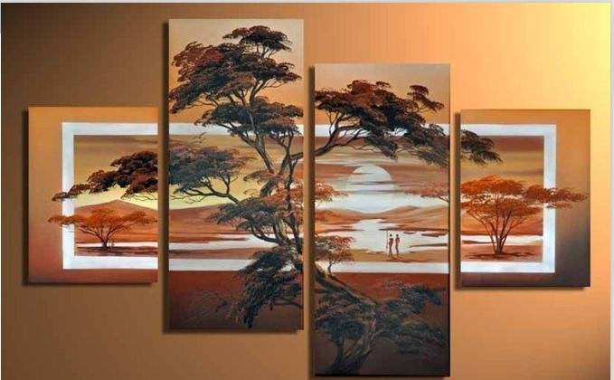 Free Shippigu2013100 Handpainted Modern Landscape Oil Painting On Canvas Large  Wall Art Top Home