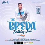 The 'Br3da Birthday Jam' is Saturday Nov 17