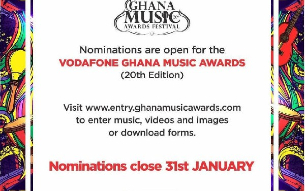 Vodafone Ghana Music Awards opens nominations for 20th edition
