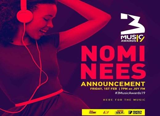 3Music Awards unveils 2019 nominees