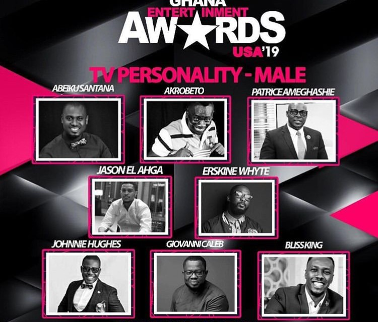 Jason EL- A nominated as Male TV personality in Ghana Entertainment Awards USA 2019